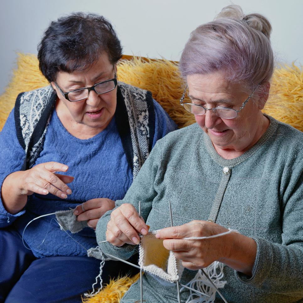 Grannies get knitting