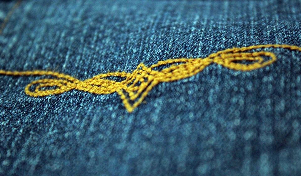 Embroidered denim