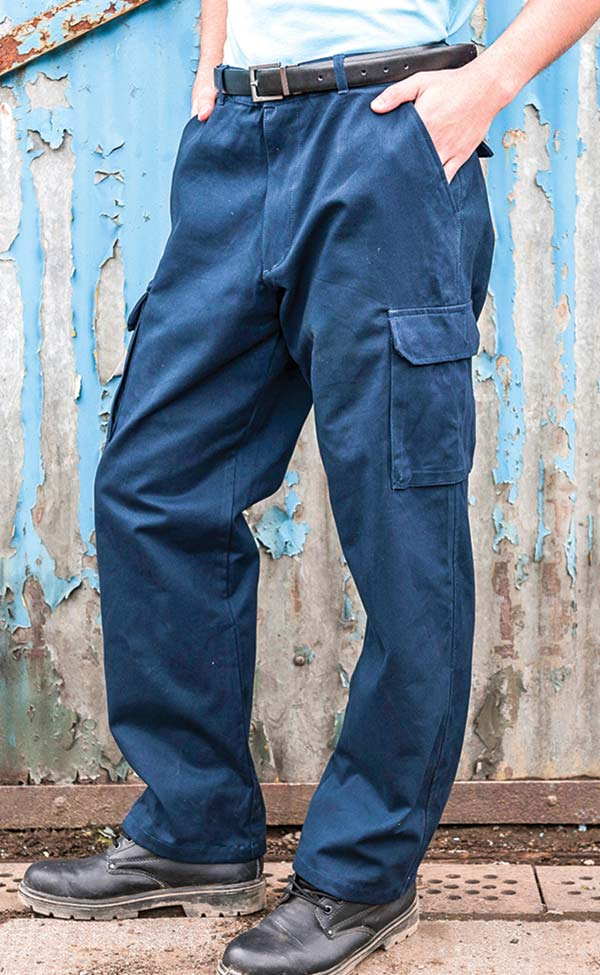 mens work wear workwear trousers action combat tough RTY047 Navy blue or black