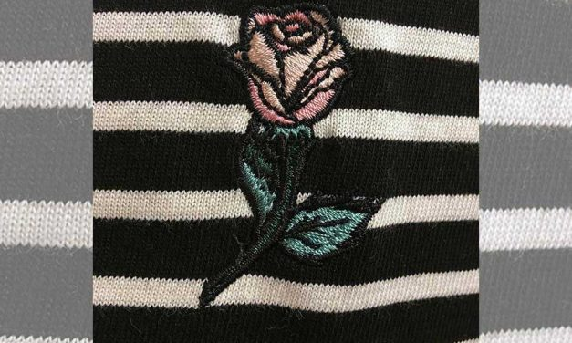 Embroidering on knitwear