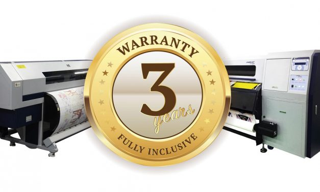 Sabur announces three-year Gold Warranty on DGI-FT digital textile printers