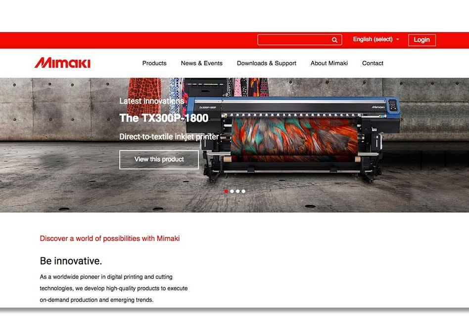 Mimaki updates European website