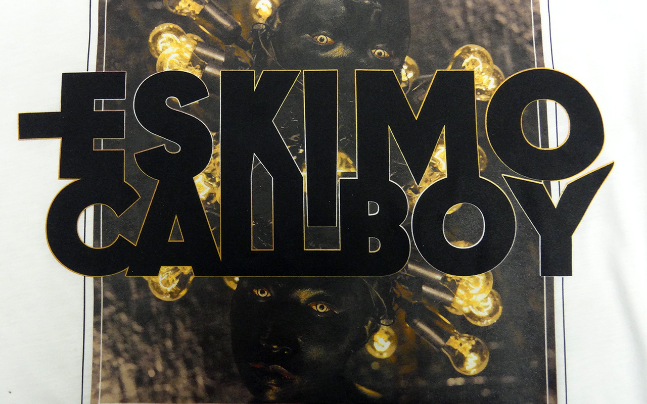 Eskimo Callboy tee on a bamboo shirt