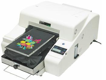 The Mutoh ValueJet 405GT CMYK + White desktop printer