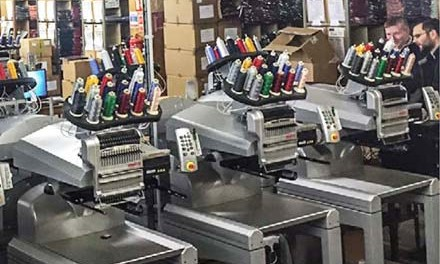 Embroidery machines: The Melco EMT16 modular system