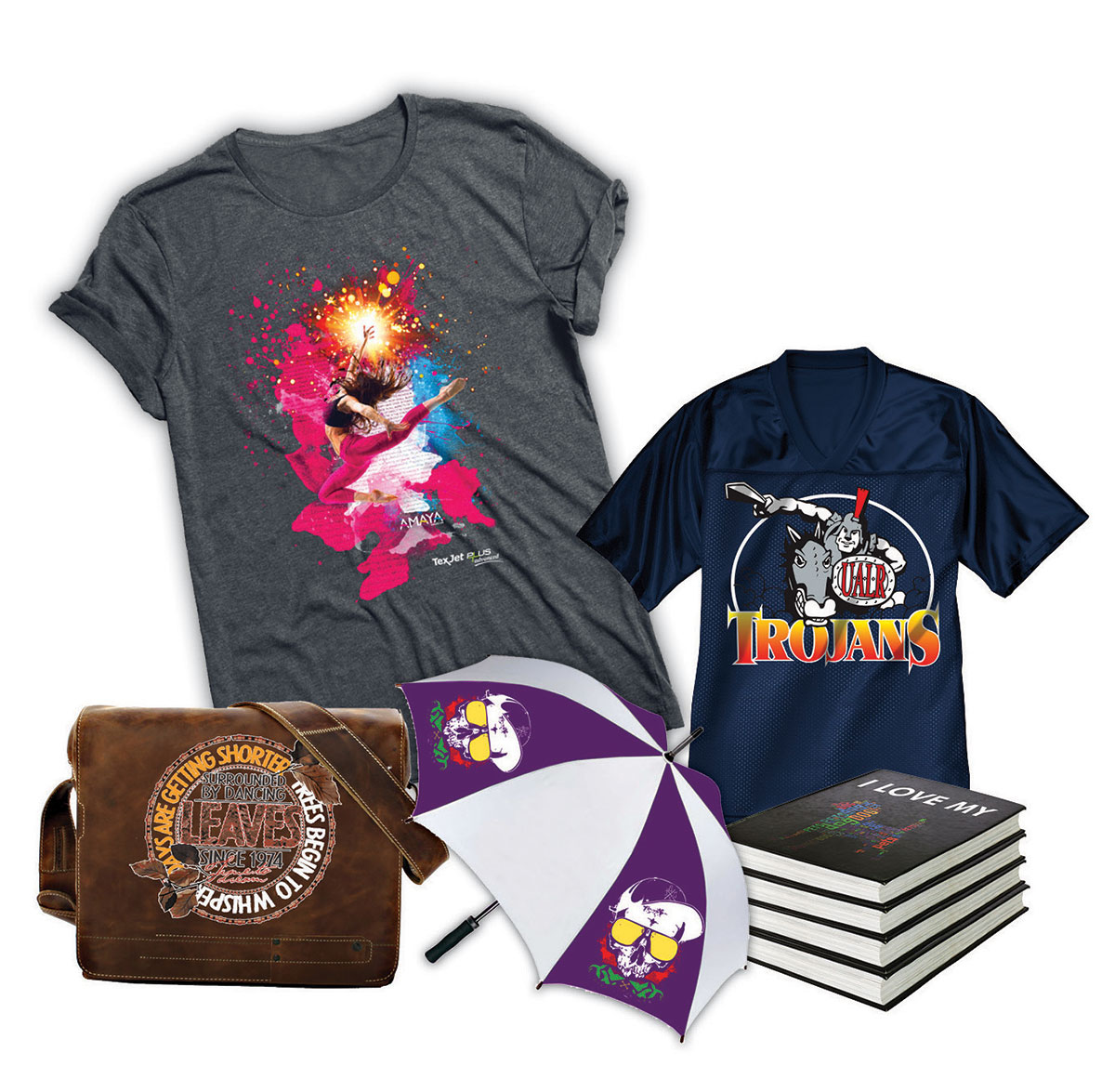Forever offers transfer products for printing on light and dark garments and a wide range of hard items