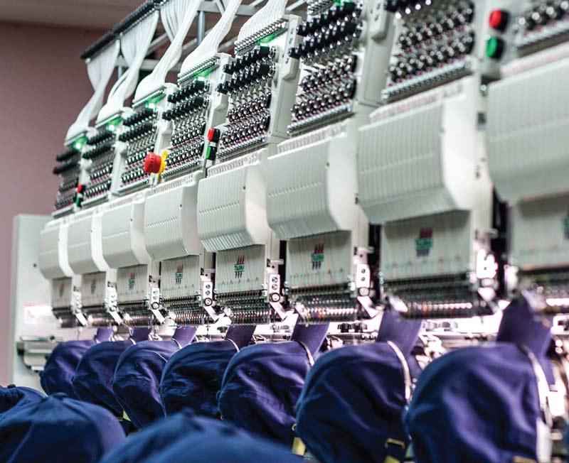 Sharon Lee's new Tajima eight-head embroidery machine