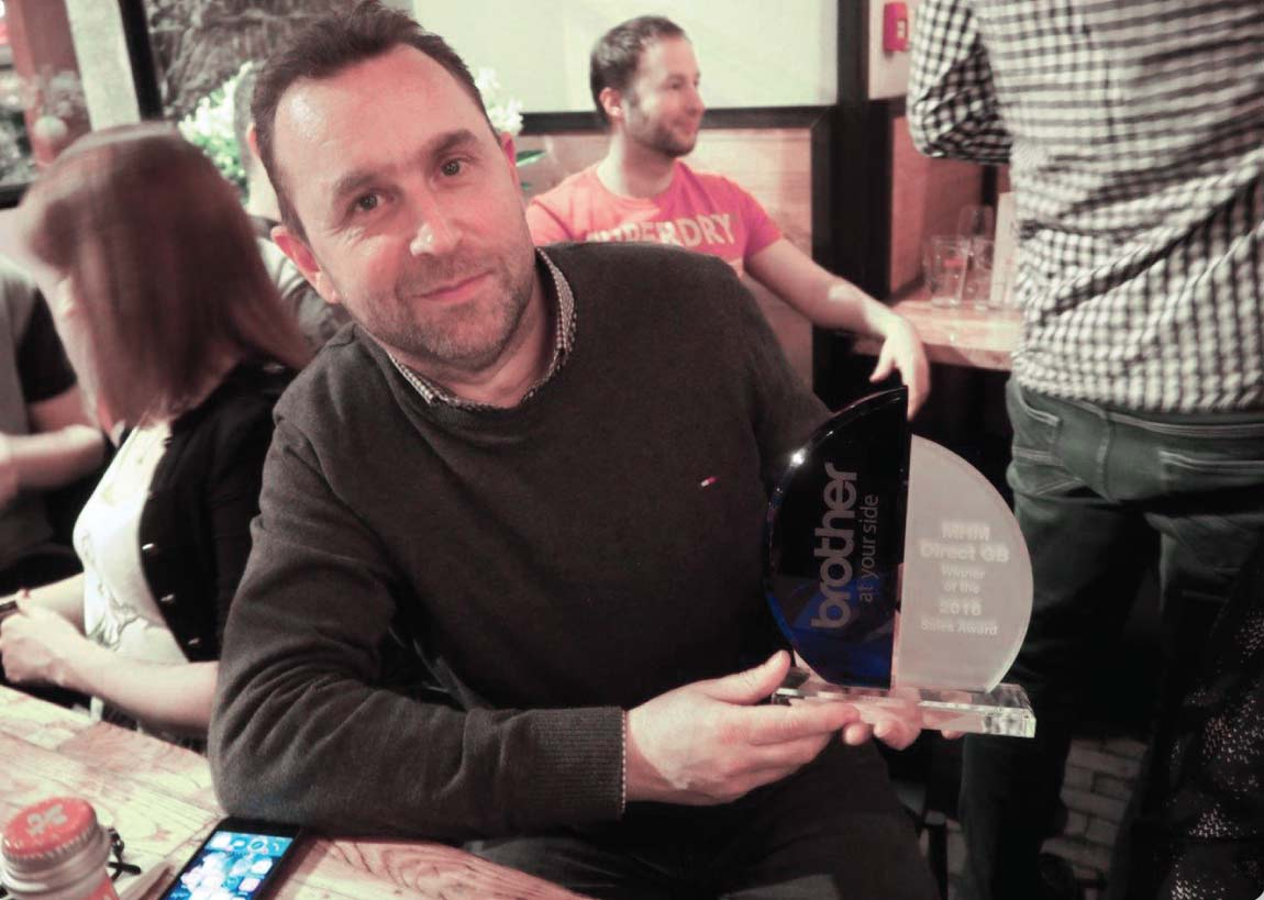 John Potter with the Brother Sales Award