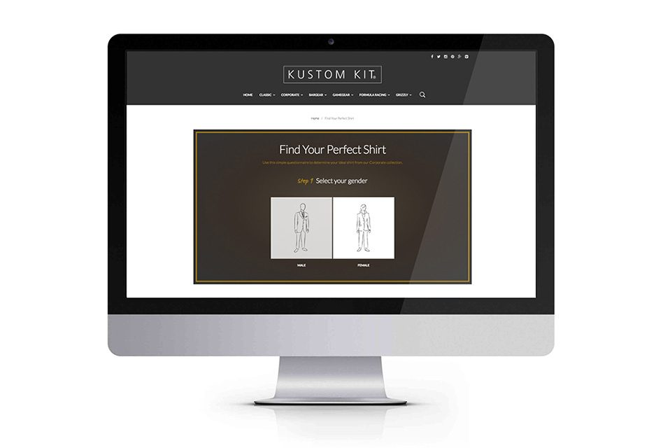 Kustom Kit helps you find the perfect shirt