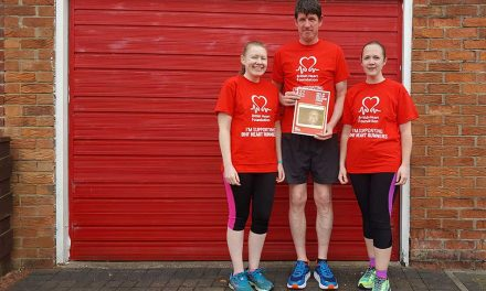 Dave Renton's children fundraise for British Heart Foundation