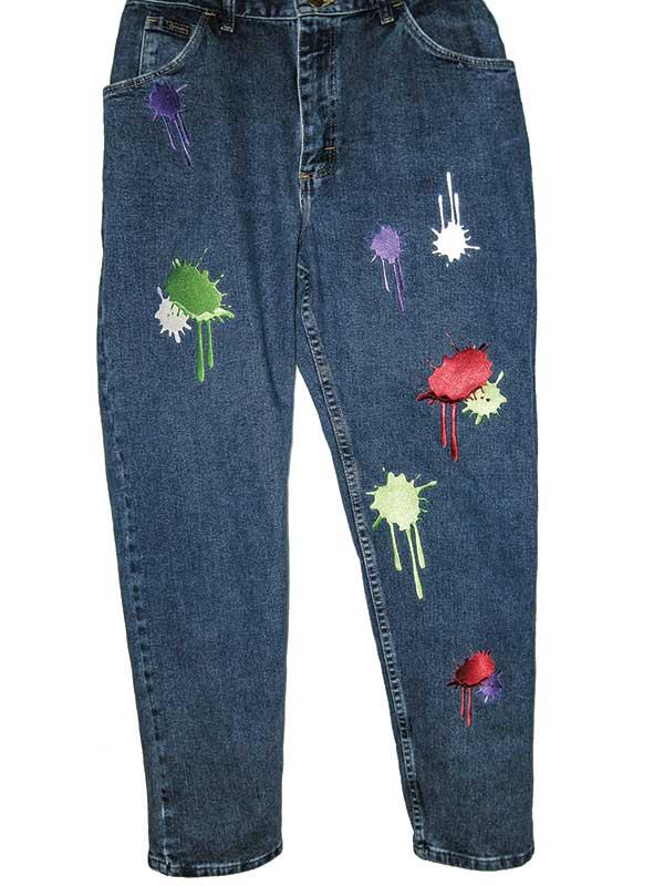 Paint splotches by Jane Swanzy