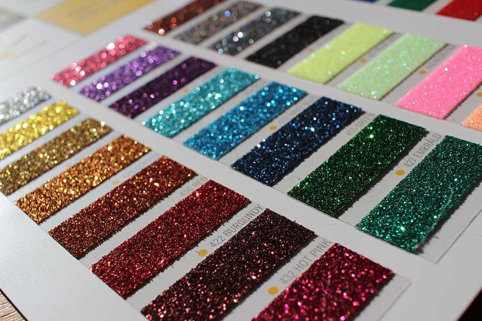 Doro Tape pearl glitter swatch card