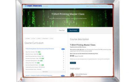 New online T-Shirt Printing Master Class from Scott Fresener