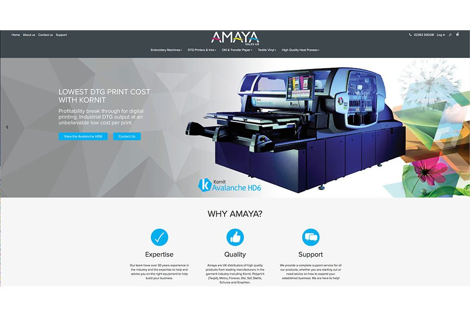 Amaya Sales UK launches new website