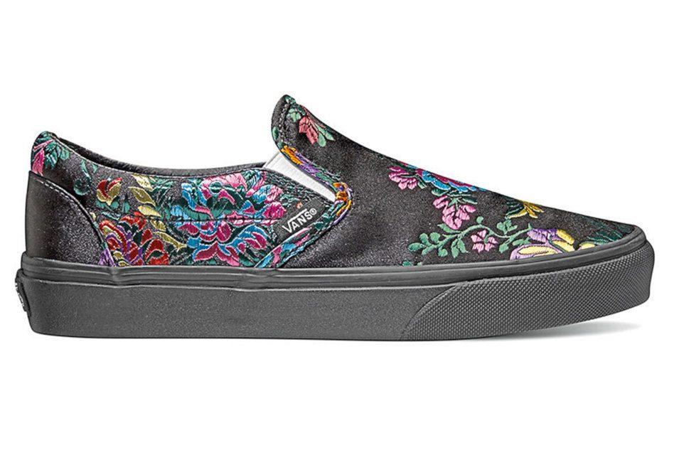 Vans festival satin classic slip-on shoes