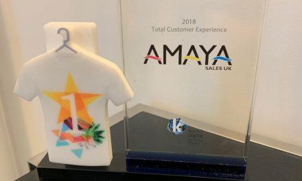 Amaya receives 'Best Customer Experience'