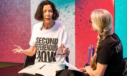 Hamnett slogan tee creates stampede at Pure London festival of fashion