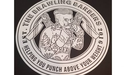 'The Brawling Barber' hoodie by Barritt Garment Printing