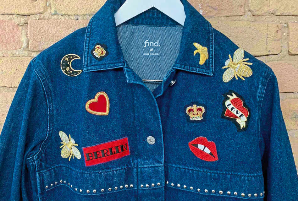 Personalised denim jackets embroidered by Hand & Lock